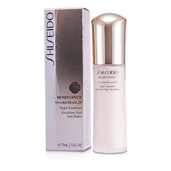 SHISEIDO BENEFIANCE WRINKLERESIST24 NIGHT EMULSION 75ML/2.5OZ