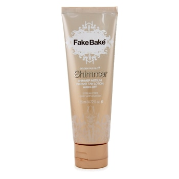 FAKE BAKE GOLDEN FAUX GLO SHIMMER MEDIUM INSTANT TAN LOTION 125ML/4.22OZ