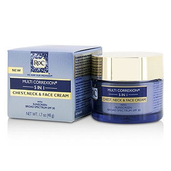 ROC MULTI CORREXION 5 IN 1 CHEST, NECK & FACE CREAM WITH SUNSCREEN BROAD SPECTRUM SPF30 50ML/1.7OZ