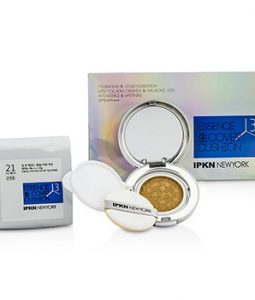 IPKN NEW YORK ESSENCE COVER CUSHION SPF 50 WITH EXTRA REFILL - #21 NUDE BEIGE 2X13G/0.45OZ