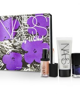 NARS ANDY WARHOL WALK ON THE WILD SIDE SET (1XMINI ILLUMINATOR, 1XMINI NAIL POLISH, 1XMINI LIP GLOSS) 3PCS