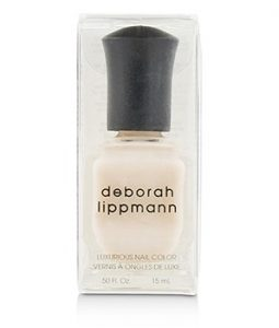 DEBORAH LIPPMANN LUXURIOUS NAIL COLOR - A FINE ROMANCE (SHEER PEARLY CHAMPAGNE SHIMMER) 15ML/0.5OZ