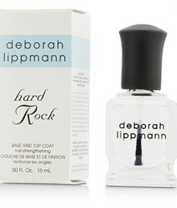 DEBORAH LIPPMANN HARD ROCK NAIL STRENGTHENING BASE AND TOP COAT 15ML/0.5OZ