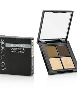 GLOMINERALS BROW QUAD (2X BROW POWDER, 1X BROW HIGHLIGHTER, 1X BROW WAX) - BROWN 4.15G/0.14OZ