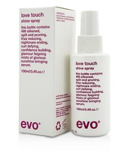 EVO LOVE TOUCH SHINE SPRAY (FOR ALL HAIR TYPES, ESPECIALLY THICK, COARSE HAIR) 100ML/3.4OZ