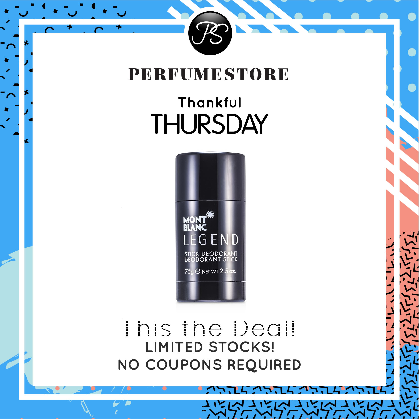 MONT BLANC LEGEND DEODORANT FOR MEN [THANKFUL THURSDAY SPECIAL]
