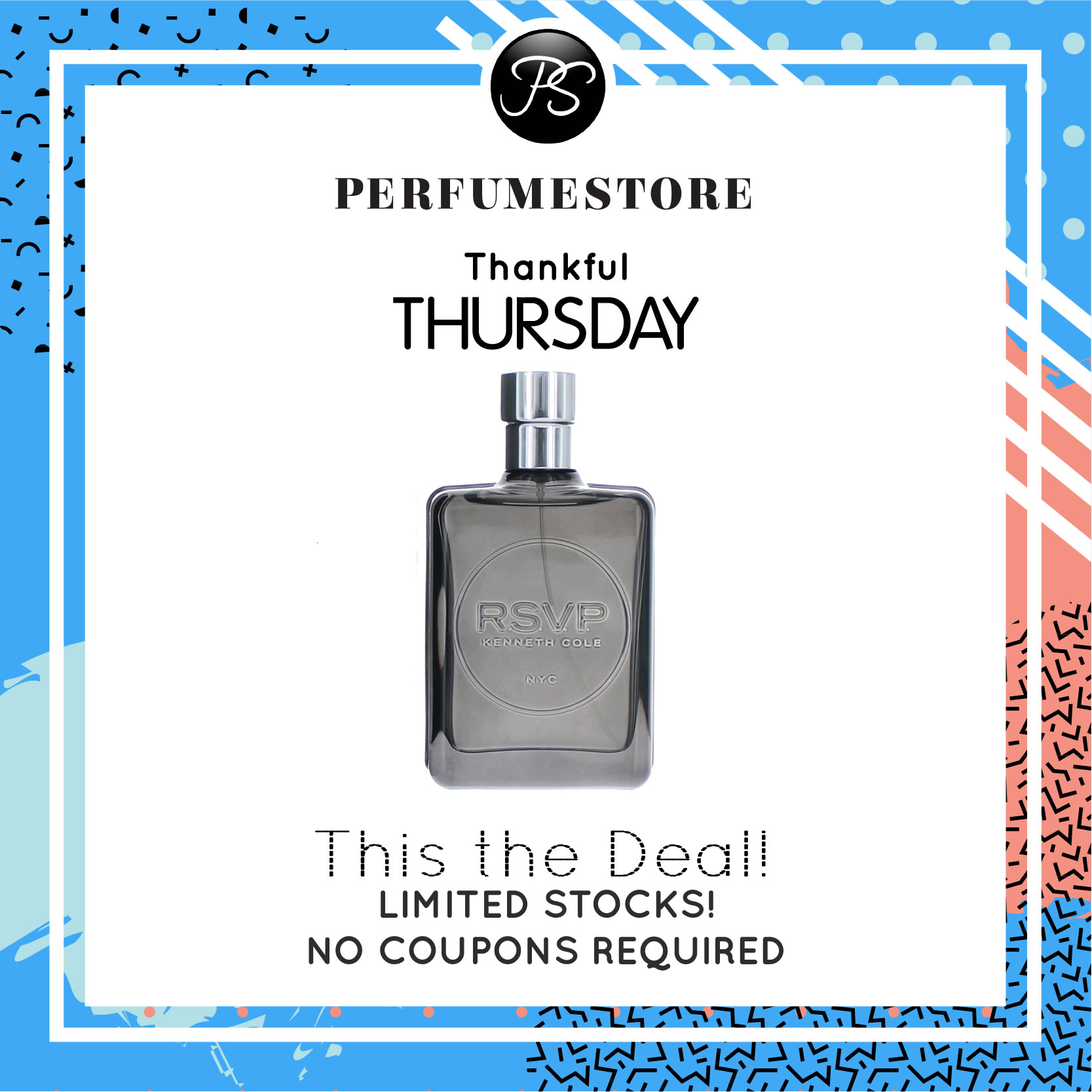 KENNETH COLE RSVP EDT FOR MEN 100ML [THANKFUL THURSDAY SPECIAL]