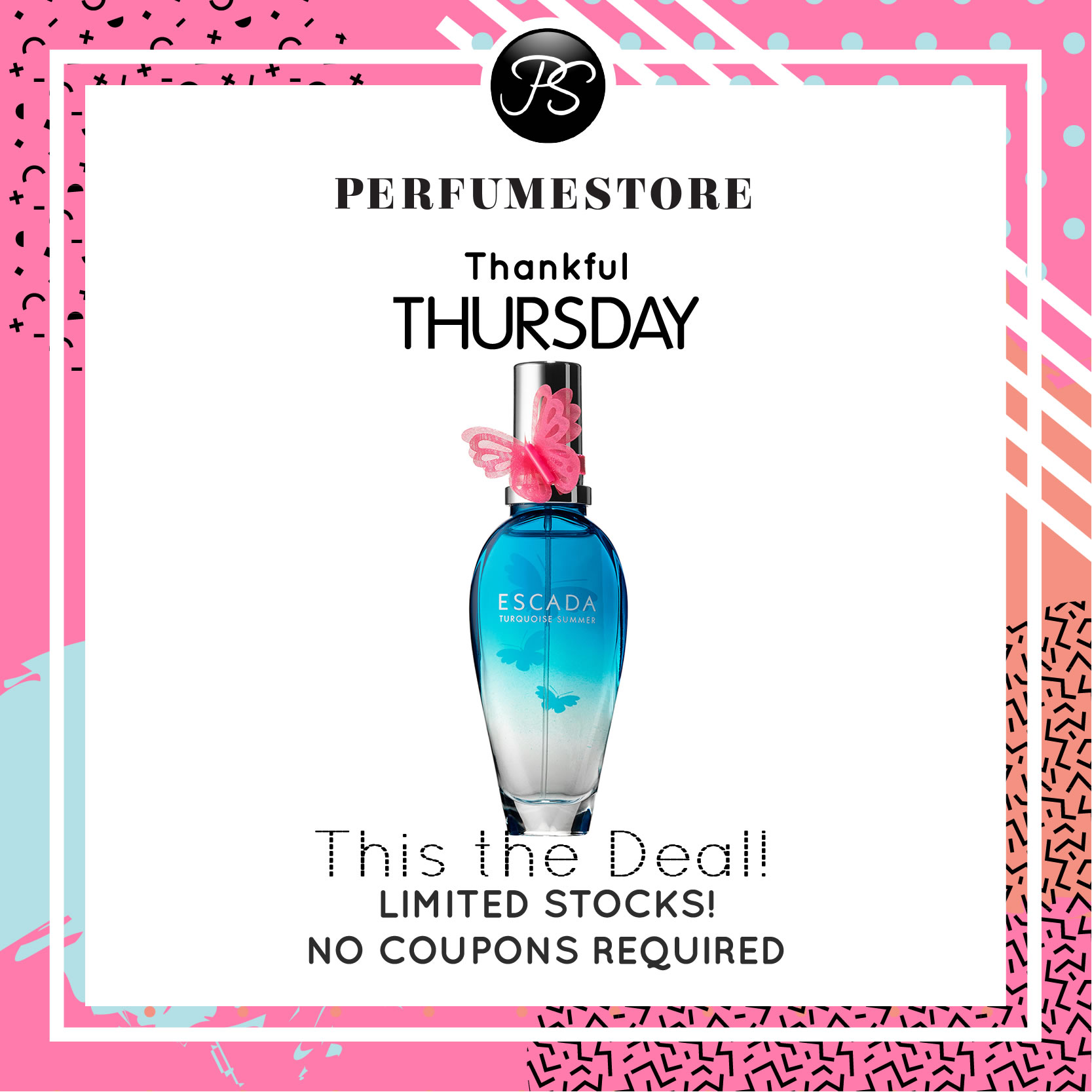ESCADA TURQUOISE SUMMER LIMITED EDITION EDT FOR WOMEN 100ML [THANKFUL THURSDAY SPECIAL]