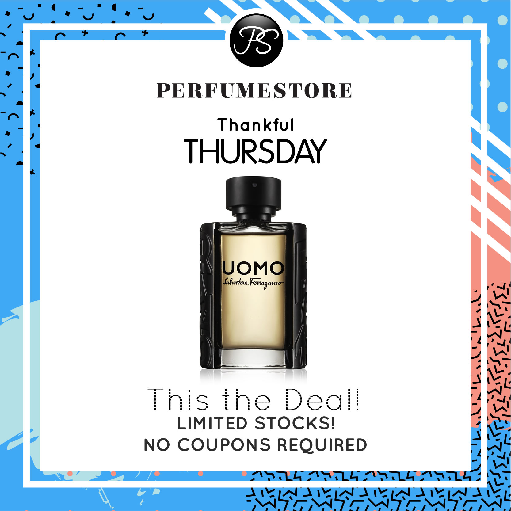 SALVATORE FERRAGAMO UOMO EDT FOR MEN 100ML [THANKFUL THURSDAY SPECIAL]