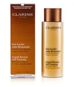 CLARINS LIQUID BRONZE SELF TANNING - FACE & DECOLLETE 125ML/4.2OZ