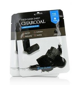 3W CLINIC MASK SHEET - CHARCOAL 10PCS