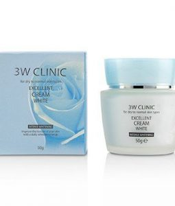 3W CLINIC EXCELLENT WHITE CREAM (INTENSIVE WHITENING) - FOR DRY TO NORMAL SKIN TYPES 50G/1.7OZ