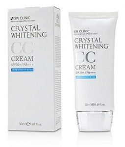 3W CLINIC CRYSTAL WHITENING CC CREAM SPF 50+/PA+++ - #01 GLITTER BEIGE 50ML/1.69OZ