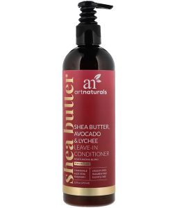 ARTNATURALS, SHEA BUTTER, AVOCADO & LYCHEE LEAVE-IN CONDITIONER, MOISTURIZING BLEND, FOR DRY HAIR, 12 FL OZ / 355ml