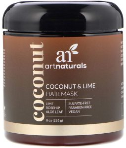 ARTNATURALS, COCONUT & LIME HAIR MASK, 8 OZ / 226g