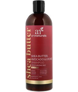 ARTNATURALS, SHEA BUTTER, AVOCADO & LYCHEE SHAMPOO, MOISTURIZING SILK, FOR DRY HAIR, 16 FL OZ / 473ml