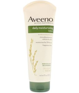 AVEENO, ACTIVE NATURALS, DAILY MOISTURIZING LOTION, FRAGRANCE FREE, 8 OZ / 227g