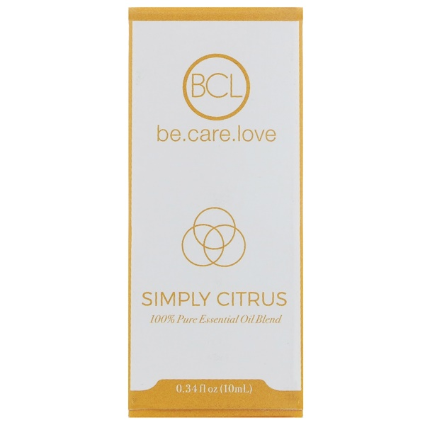 BCL, BE CARE LOVE, 100% PURE ESSENTIAL OIL BLEND, SIMPLY CITRUS, 0.34 FL OZ / 10ml