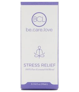 BCL, BE CARE LOVE, 100% PURE ESSENTIAL OIL BLEND, STRESS RELIEF, 0.34 FL OZ / 10ml