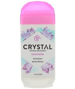 CRYSTAL BODY DEODORANT, NATURAL DEODORANT, UNSCENTED, 2.5 OZ / 70g