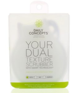 DAILY CONCEPTS, YOUR DUAL TEXTURE SCRUBBER, GENTLE, 1 SCRUBBER
