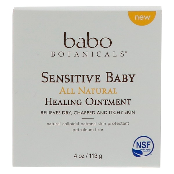 BABO BOTANICALS, SENSITIVE BABY, ALL NATURAL, HEALING OINTMENT, 4 OZ / 113g