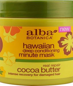 ALBA BOTANICA, HAWAIIAN DEEP CONDITIONING, MINUTE MASK, COCOA BUTTER, 5.5 OZ / 156g