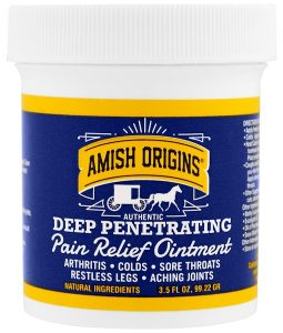 AMISH ORIGINS, DEEP PENETRATING, PAIN RELIEF OINTMENT, 3.5 FL OZ / 99.22g