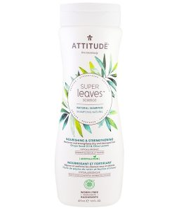 ATTITUDE, SUPER LEAVES SCIENCE, NATURAL SHAMPOO, NOURISHING & STRENGTHENING, GRAPE SEED OIL & OLIVE LEAVES, 16 OZ / 473ml