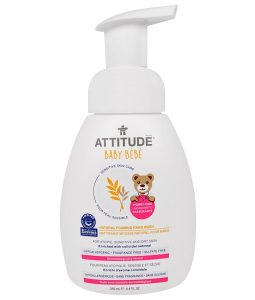 ATTITUDE, SENSITIVE SKIN CARE, BABY, NATURAL FOAMING HAND WASH, FRAGRANCE FREE, 8.4 FL OZ / 250ml