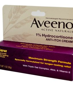 AVEENO, ACTIVE NATURALS, 1% HYDROCORTISONE, ANTI-ITCH CREAM, 1 OZ / 28g