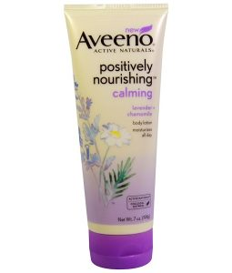 AVEENO, ACTIVE NATURALS, POSITIVELY NOURISHING CALMING BODY LOTION, LAVENDER + CHAMOMILE, 7 OZ / 198g