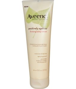 AVEENO, ACTIVE NATURALS, POSITIVELY AGELESS, FIRMING BODY LOTION, 8.0 OZ / 227g