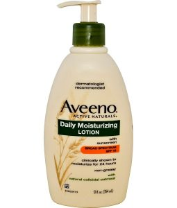 AVEENO, ACTIVE NATURALS, DAILY MOISTURIZING LOTION WITH SUNSCREEN, SPF 15, 12 FL OZ / 354ml