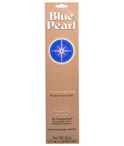 BLUE PEARL, CLASSIC IMPORTED INCENSE, SANDALWOOD, 0.7 OZ / 20g