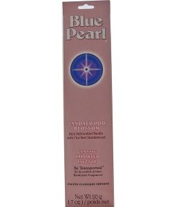 BLUE PEARL, CLASSIC IMPORTED INCENSE, SANDALWOOD BLOSSOM, 0.7 OZ / 20g