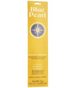 BLUE PEARL, CLASSIC IMPORTED INCENSE, GOLDEN CHAMPA, 0.35 OZ / 10g