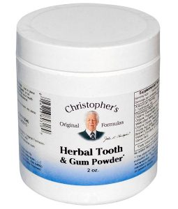 CHRISTOPHER'S ORIGINAL FORMULAS, HERBAL TOOTH & GUM POWDER, 2 OZ