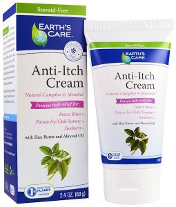 EARTH'S CARE, ANTI-ITCH CREAM, WITH SHEA BUTTER AND ALMOND OIL, 2.4 OZ / 68g