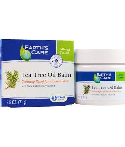 EARTH'S CARE, TEA TREE OIL BALM, 2.5 OZ / 71g