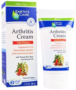 EARTH'S CARE, ARTHRITIS CREAM, 2.4 OZ / 68g