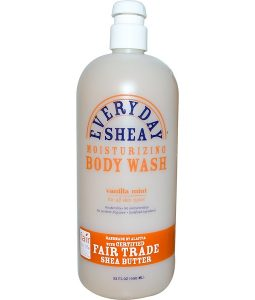 EVERYDAY SHEA, MOISTURIZING BODY WASH, VANILLA MINT, 32 FL OZ / 950ml
