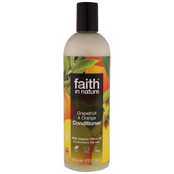 FAITH IN NATURE, CONDITIONER, FOR NORMAL TO OILY HAIR, GRAPEFRUIT & ORANGE, 13.5 FL. OZ / 400ml