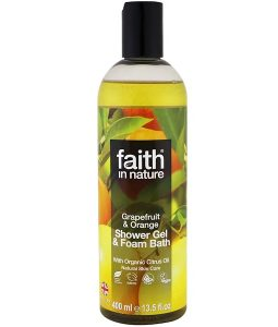 FAITH IN NATURE, SHOWER GEL & FOAM BATH, GRAPEFRUIT & ORANGE, 13.5 FL OZ / 400ml