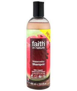 FAITH IN NATURE, SHAMPOO, FOR NORMAL TO DRY HAIR, WATERMELON, 13.5 FL OZ / 400ml