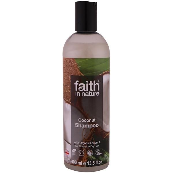 FAITH IN NATURE, SHAMPOO, FOR NORMAL TO DRY HAIR, COCONUT, 13.5 FL OZ / 400ml