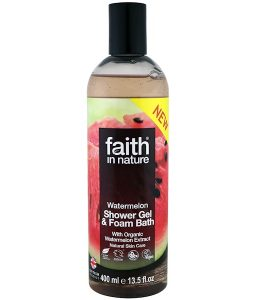FAITH IN NATURE, SHOWER GEL & FOAM BATH, WATERMELON, 13.5 FL OZ / 400ml