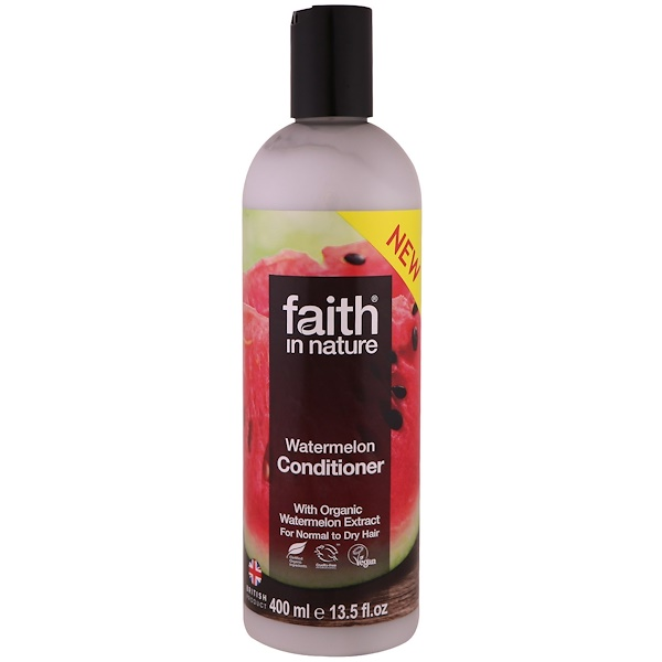FAITH IN NATURE, CONDITIONER, FOR NORMAL TO DRY HAIR, WATERMELON, 13.5 FL OZ / 400ml