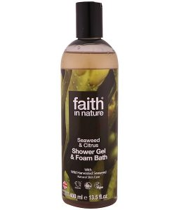 FAITH IN NATURE, SHOWER GEL & FOAM BATH, SEAWEED & CITRUS, 13.5 FL OZ / 400ml