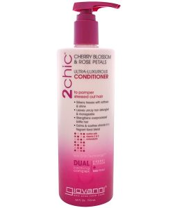 GIOVANNI, 2CHIC, ULTRA-LUXURIOUS CONDITIONER, TO PAMPER STRESSED OUT HAIR, CHERRY BLOSSOM & ROSE PETALS, 24 FL OZ / 710ml